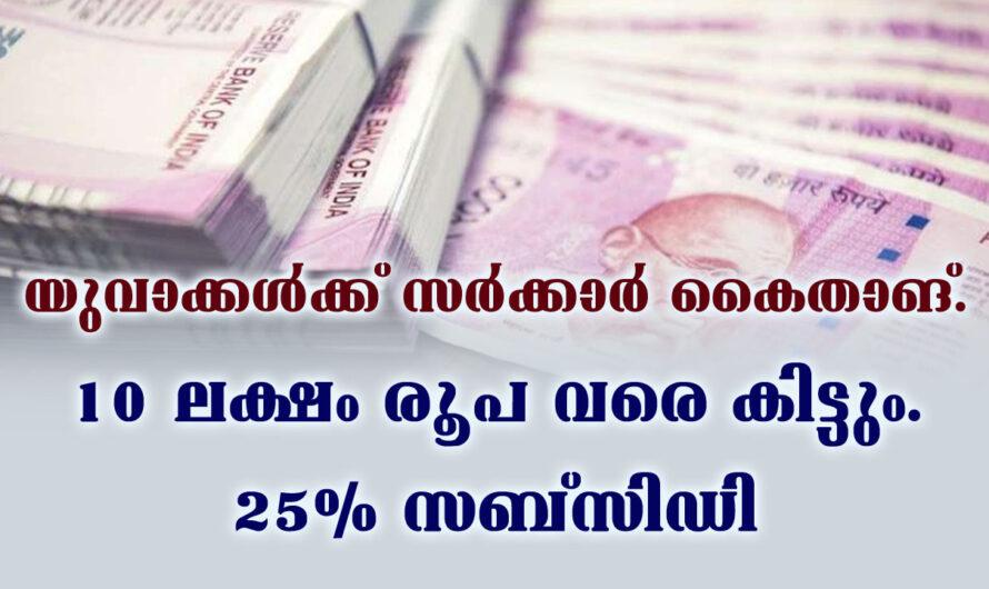 സംസ്ഥാന സർക്കാർ കൈത്താങ്ങ്, 25% സബ്സിഡി ലഭിക്കുന്ന ലോൺ പദ്ധതി.